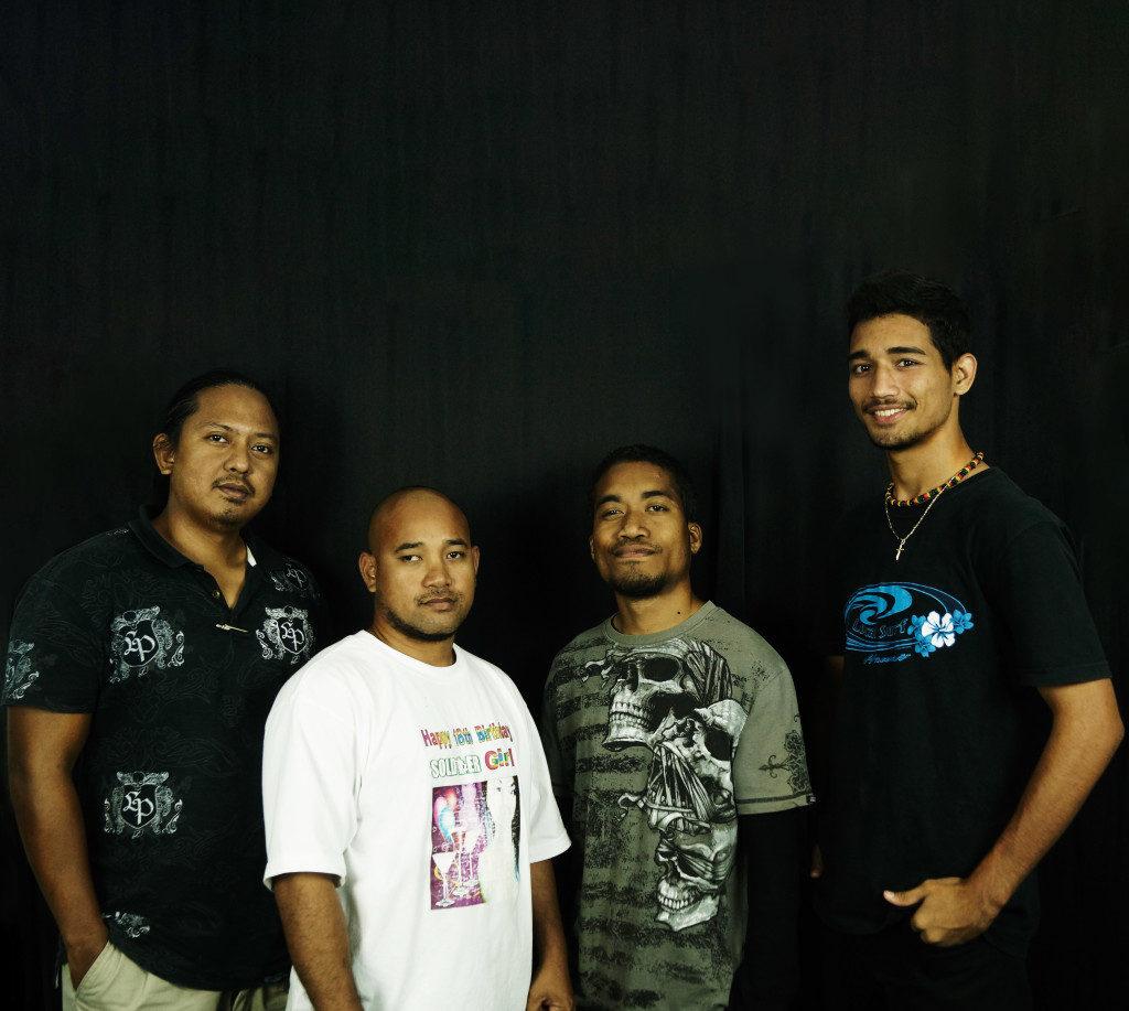 College of Marshall Islands Media Club, (from left) Chris, Daniel, Mailon, Robert.