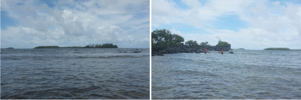 View of the open ocean from Nan Madol